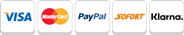 Sofort, Visa, klarna, Mastercard, VISA, Paypal